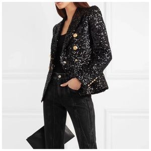 The JORREY Black Sequin Jacket